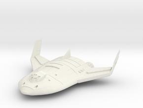Reworked Shuttle in White Natural Versatile Plastic