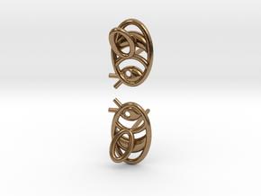 Bee Earrings V2.1 in Natural Brass
