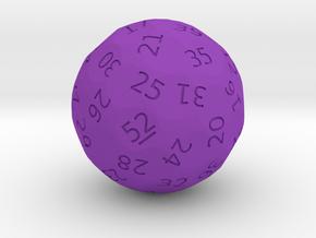 """d52 """"Week Picker"""" in Purple Processed Versatile Plastic"""