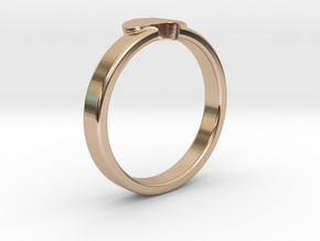 Heart ring in 14k Rose Gold Plated Brass