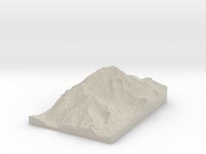 Model of Aconcagua in Natural Sandstone