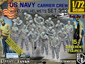 1/72 USN Carrier Deck Crew Set303 in Smooth Fine Detail Plastic