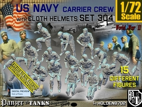 1/72 USN Carrier Deck Crew Set304 in Smooth Fine Detail Plastic