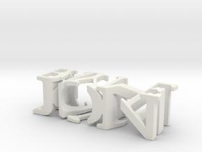 3dWordFlip: JON/PAYNE in White Natural Versatile Plastic