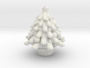 Xmas Tree in White Natural Versatile Plastic
