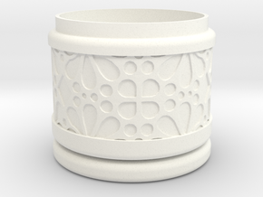 Gift Box No.1 with Mosaic-3 (solid-filigree short) in White Processed Versatile Plastic