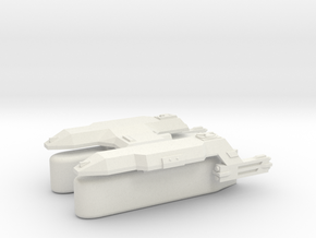 3125 Scale LDR Transport Tug (Klingon Pods) CV in White Natural Versatile Plastic