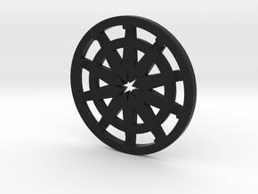 Pommel Insert (Speaker Section) in Black Natural Versatile Plastic