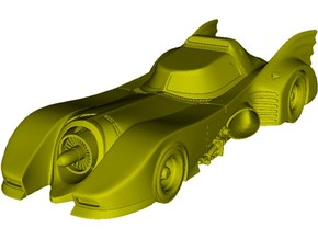 1/87 scale Batmobile from 1992 Batman Returns x 1 in Smooth Fine Detail Plastic