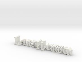 3dWordFlip: LaurenHarrison/DarkKnight in White Natural Versatile Plastic