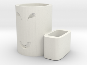 Pen holder in White Natural Versatile Plastic: Medium