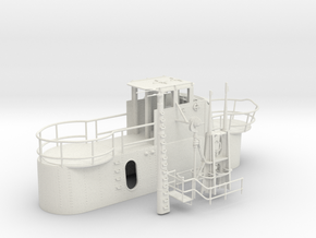 1/35 US Gato Conning Tower SET in White Natural Versatile Plastic