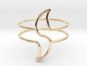 WAVE in 14k Gold Plated Brass: Medium