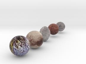 Dwarf Planet Set in Full Color Sandstone