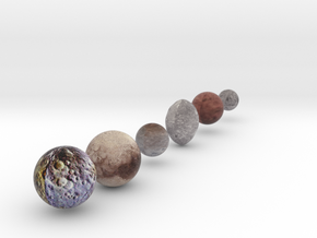 Dwarf Planet Alternate sizing with Charon in Full Color Sandstone