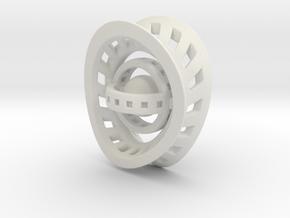 RingX in White Natural Versatile Plastic: Small