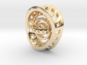 RingX in 14k Gold Plated Brass: Small