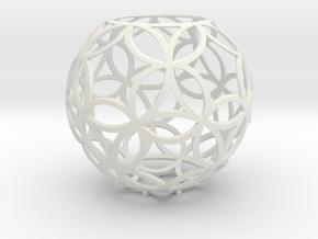 Dual circles (stereographic projection) in White Premium Versatile Plastic