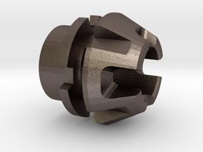 Custom CC Crystal Energy Port V1 in Polished Bronzed Silver Steel
