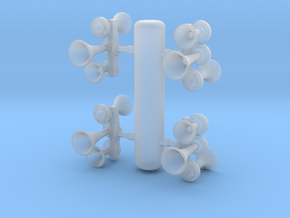 K3L Air Horn, Reversed 1/87.1 in Smoothest Fine Detail Plastic