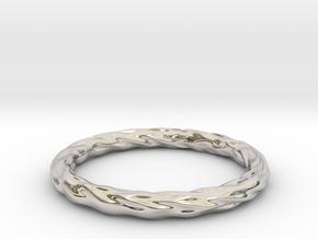 Valley Series Bracelet 66mm in Rhodium Plated Brass