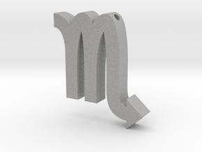 Scorpio Symbol Pendant in Aluminum