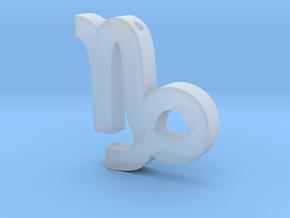 Capricorn Symbol Pendant in Smooth Fine Detail Plastic