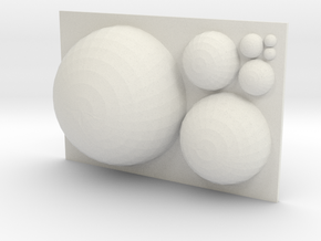 GoldenRatioSpheres in White Natural Versatile Plastic