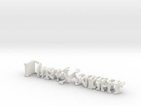 3dWordFlip: DarkKnight/LauraHarrison in White Natural Versatile Plastic