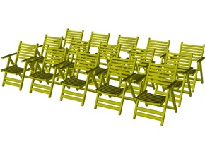 1/35 scale wooden chairs set B x 15 in Smooth Fine Detail Plastic