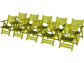 1/35 scale wooden chairs set B x 10 in Smooth Fine Detail Plastic