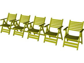 1/35 scale wooden chairs set B x 5 in Smooth Fine Detail Plastic