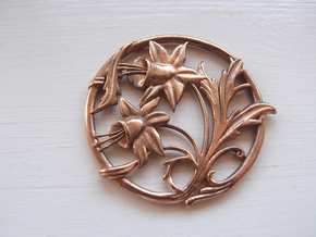 Art nouveau replica 02 - Easter lillies  in Raw Bronze