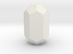 Beryl 2 25 mm in White Natural Versatile Plastic