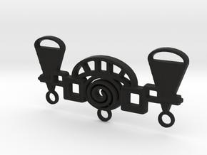 Archway Pendant in Black Natural Versatile Plastic