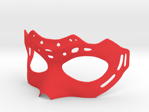 Mask in Red Processed Versatile Plastic: Extra Small