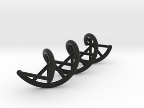 DNA strand in Black Natural Versatile Plastic