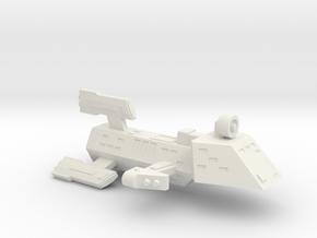 3788 Scale Kzinti FFK Frigate (C-9 Refit) SRZ in White Natural Versatile Plastic