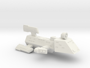 3125 Scale Kzinti FFK Frigate (C-9 Refit) SRZ in White Natural Versatile Plastic
