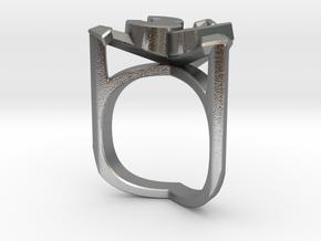 3december ring - original design in Natural Silver