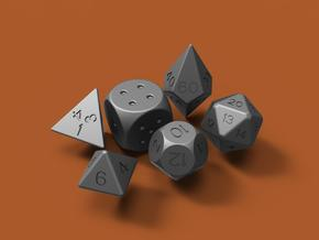 Dice set (5mm) in Smooth Fine Detail Plastic