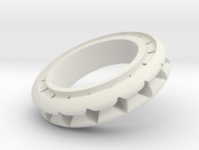 Ring X4 in White Natural Versatile Plastic: Small