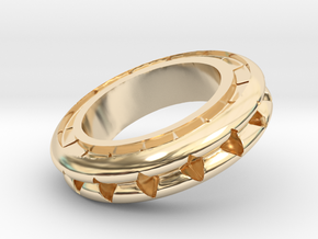 Ring X4 in 14K Yellow Gold: Small