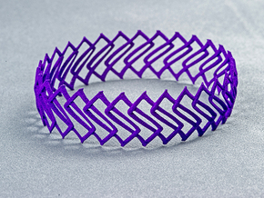 Bracelet 02 in Purple Processed Versatile Plastic