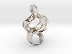 Ring X5 in Rhodium Plated Brass: Small