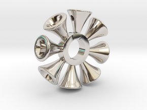 Ring X6 in Rhodium Plated Brass: Small