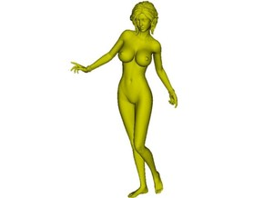 1/35 scale nude beach girl posing figure B in Smooth Fine Detail Plastic