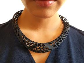 D-Strutura Choker, Medium Size  in Black Natural Versatile Plastic