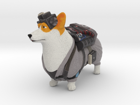 Ghostbuster Corgi in Full Color Sandstone