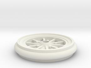 Hubley Vintage Model Car Wheel - 1:20 in White Natural Versatile Plastic
